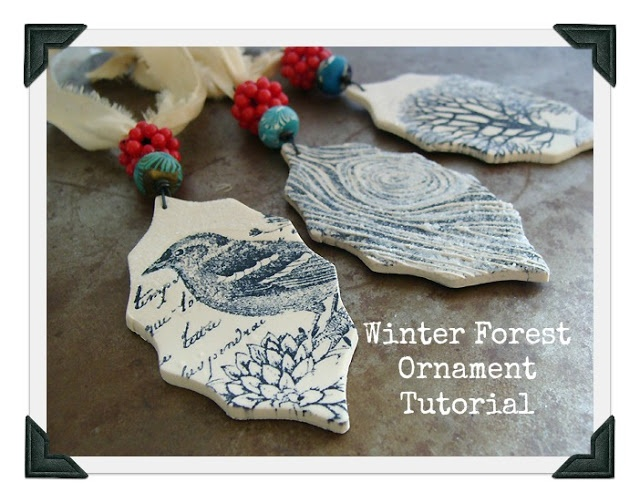 Polymer clay and rubber stamp project - super easy!