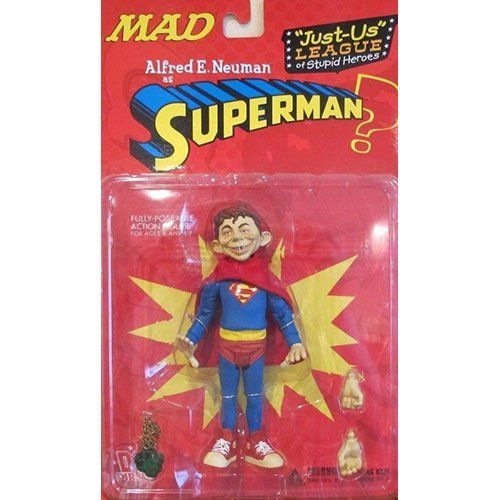 JustUsLeague Of Stupid Heroes Alfred E Neuman As Superman Action Figure by DC Comics ** Be sure to check out this awesome product.