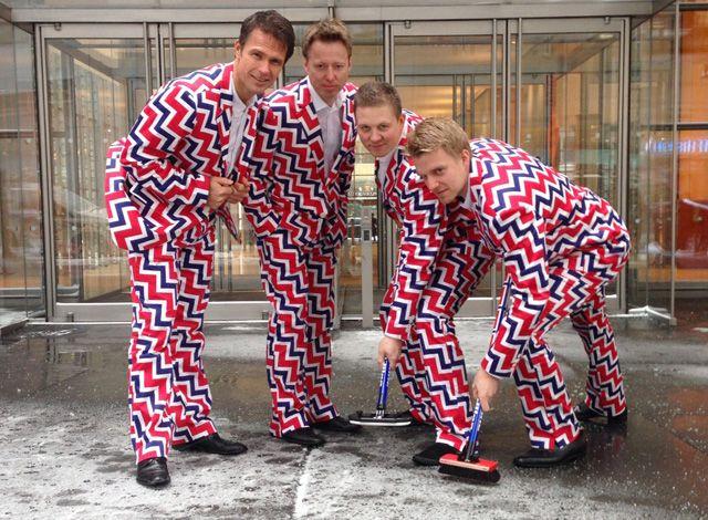 Le costume de l'équipe norvégienne de Curling au JO, j'adore!