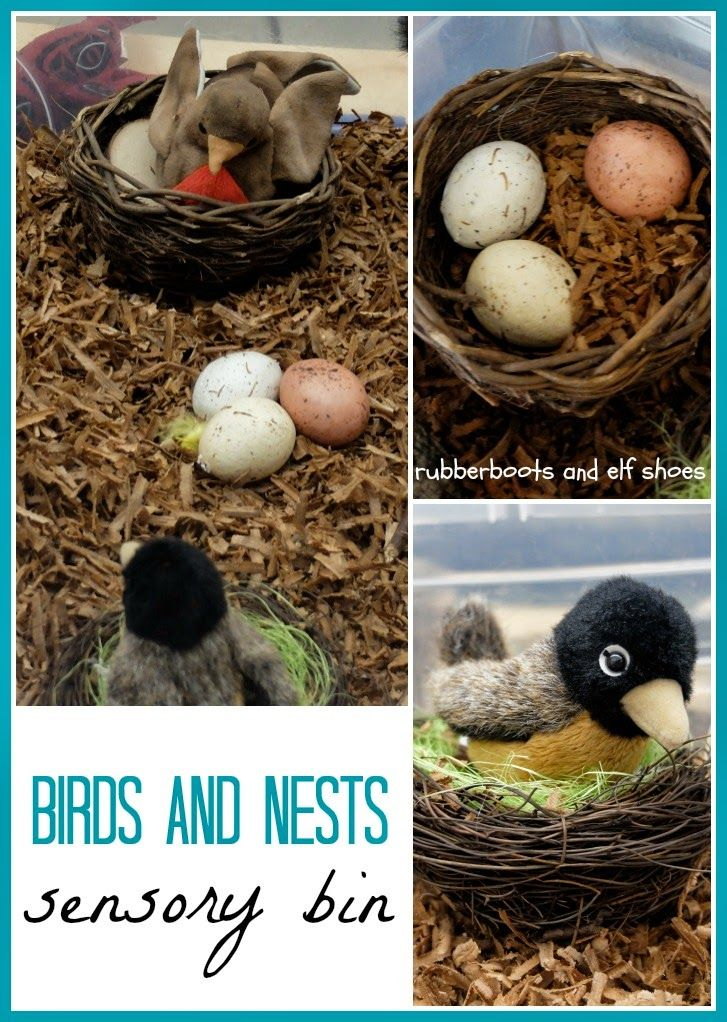 Birds and Nests Bin from Rubber Boots and Elf Shoes