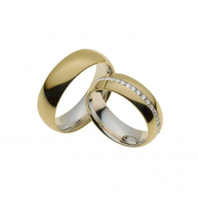 Matrimônio : Aliança de Compromisso de Prata Revestida em Ouro 7mm (UNIDADE)