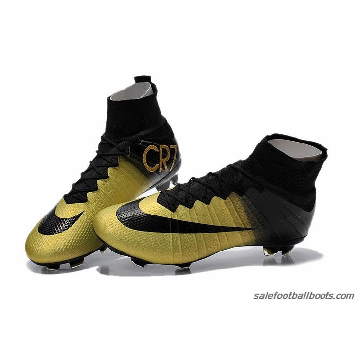 outlet store 427b9 ca5be Nike Mercurial Superfly CR7 FG Firm Ground Gold Black 110.99 Zapatos Neymar  Pinterest ...