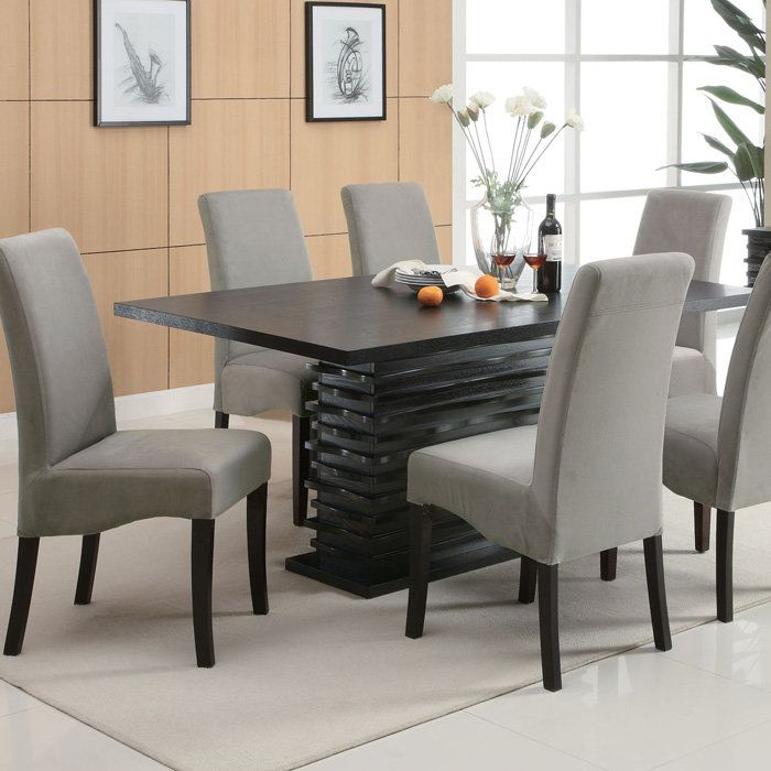 Stanton Contemporary Dining Table   Redefine Your Dining Room With This  Cutting Edge Dining Table