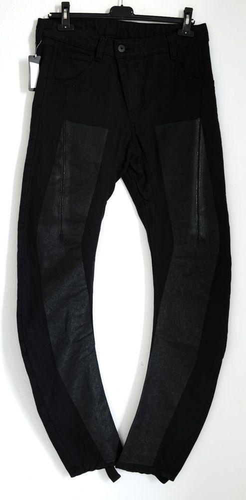 BNWT BORIS BIDJAN SABERI 11 FRONT PANELLED BLACK JEANS L(fits slim),700$,DRKSHDW #BORISBIDJANSABERI11 #SLIM