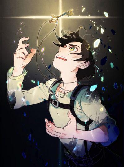 """""""Eren and the Basement Key""""  scribble-notes:  アニメ板のエレンの瞳は緑色で、環境光の影響を受けて変色する設定…という認識で良いのでしょうか(聞かれても)。きっと何かしら理由があっての変更なんだろうなと思いつつ(既出だったらすみません…)、どんな状況の時に金(琥珀)色になるんだろうなと思いながらアニメ見てます。"""