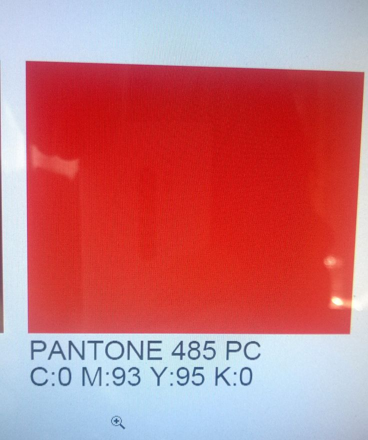 color formula for pantone 485 c