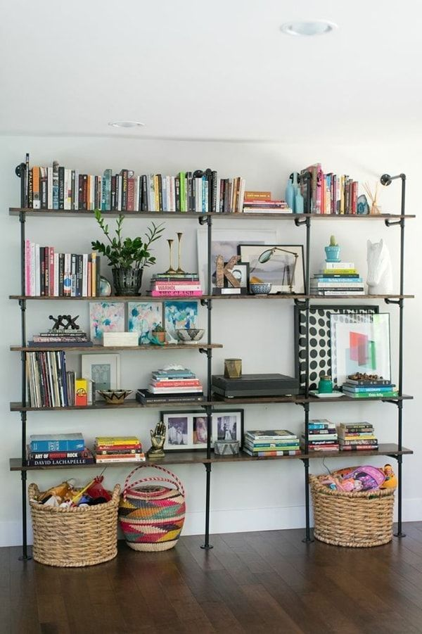 17 mejores ideas sobre estanter as met licas en pinterest - Decoracion de librerias ...