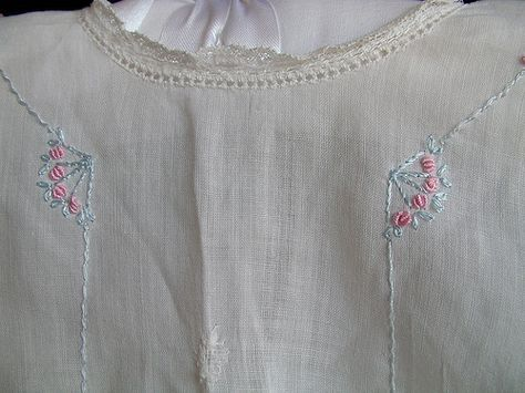 detailing on a beautiful old baby dress vintage baby dress