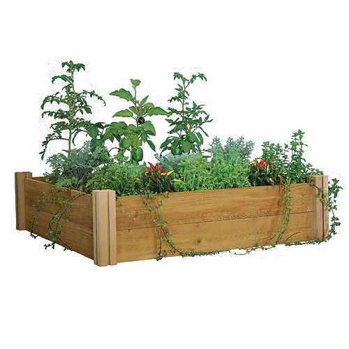 RaisedBeds.com - Modular Cedar Raised Bed Kit, $109.99 (http://raisedbeds.com/modular-cedar-raised-bed-kit/)