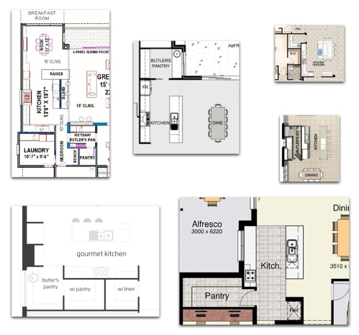 The butler 39 s pantry pantry layouts and butler pantry for Butlers pantry floor plans