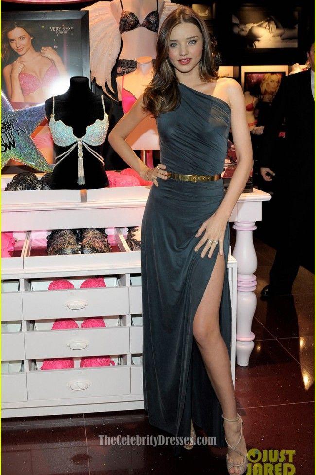 Celebrity Dresses Miranda Kerr One Shoulder Dress Relaunches Victoria's Secret South Coast Plaza Store - TheCelebrityDresses
