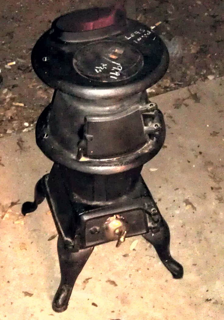 Antique Cast Iron 38 Pot Belly Wood Burning Stove Found It At A Thrift Store For