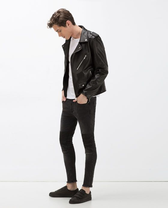 ZARA - MAN - JEANS WITH KNEE PATCHES