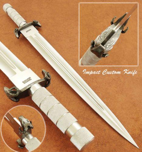 Влияние-столовые приборы-редкая-таможня-Д2-большие-массивные-меч-кинжал-нож-НАКАТКОЙ-Дамаск