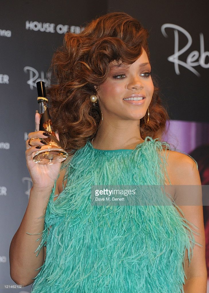 Rihanna launches her new scent 'Reb'l Fleur' at House of Fraser on August 19, 2011 in London, England.