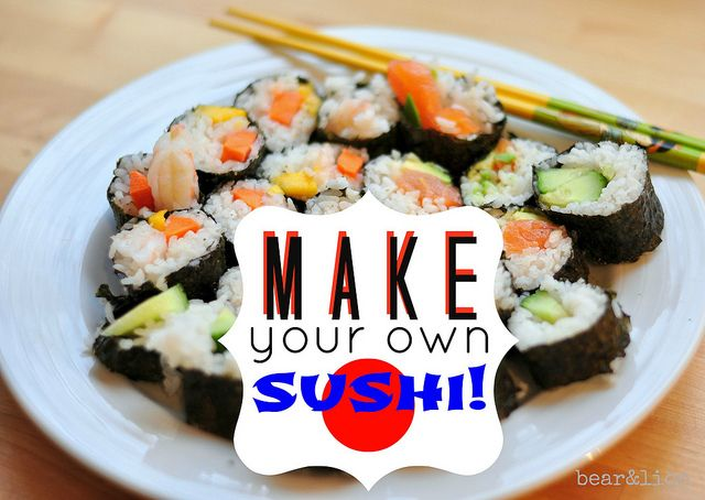 how to make your own sushi rolls