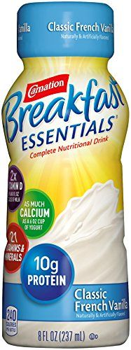 Carnation Breakfast Essentials Ready to Drink, Classic French Vanilla, 8 Fluid Ounce (Pack of 24) -- Click image for more details.