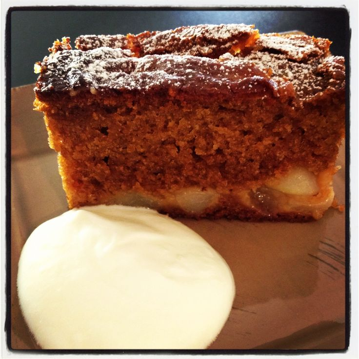 Sticky Pear Ginger Cake - Cooking with Tenina