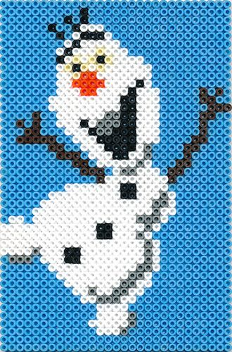 Olaf Frozen - perler beads