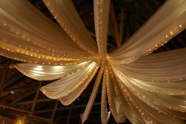 Roof draping with fairylights