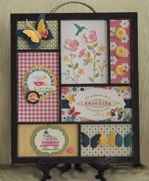 Summer inserts for printers tray.  Really love the new Wildflower Meadows stamp set with the matching embossing folder.