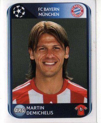 FC BAYERN MUNICH - Martin Demichelis 280 PANINI UEFA Champions League 2010-2011 Football Sticker