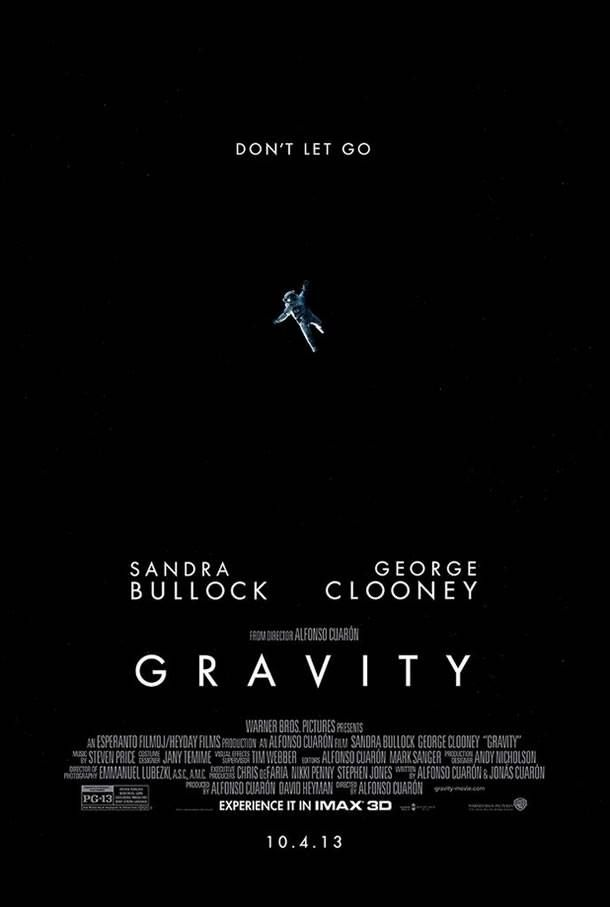 Gravity 3D--this was amazing, completely captivating and visually incredible. Go watch this, peeps, it is sooo good
