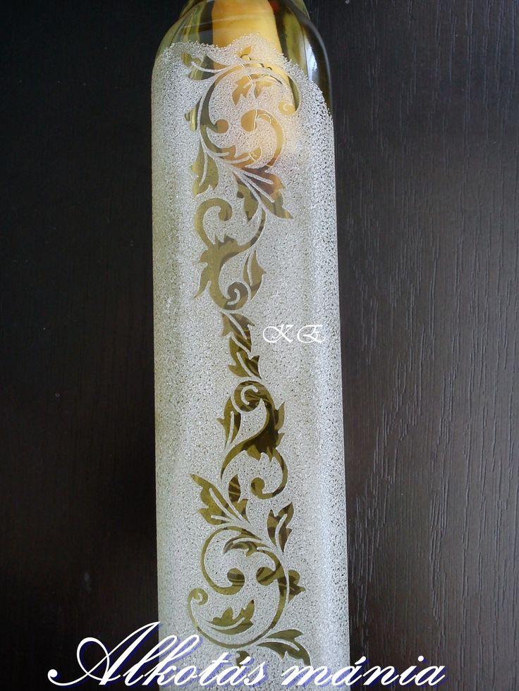 #ornamentika##gravírozott##pálinkás##palack##üveg##ajándék##alkotásmánia#