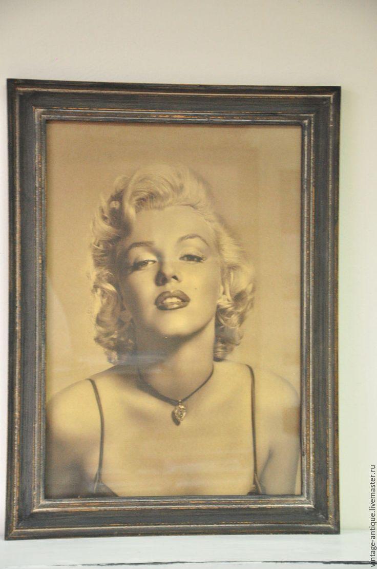 Купить Винтажные панно Мерлин Монро, диптих, картина, постер - коричневый, Мерлин Монро, кокетка
