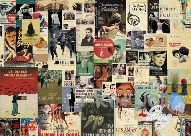 3d Classic Movie Retro Poster Wall Paper Wall Mural Art Prints Living Idecoroom Retro Poster Mural Wall Art Mural Art