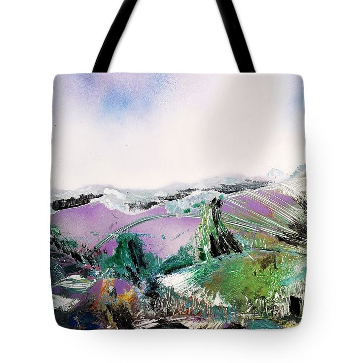 Lake Of The Dawn Tote Bag Printed with Fine Art spray painting image Lake Of The Dawn Nandor Molnar (When you visit the Shop, change the size, background color and image size as you wish)