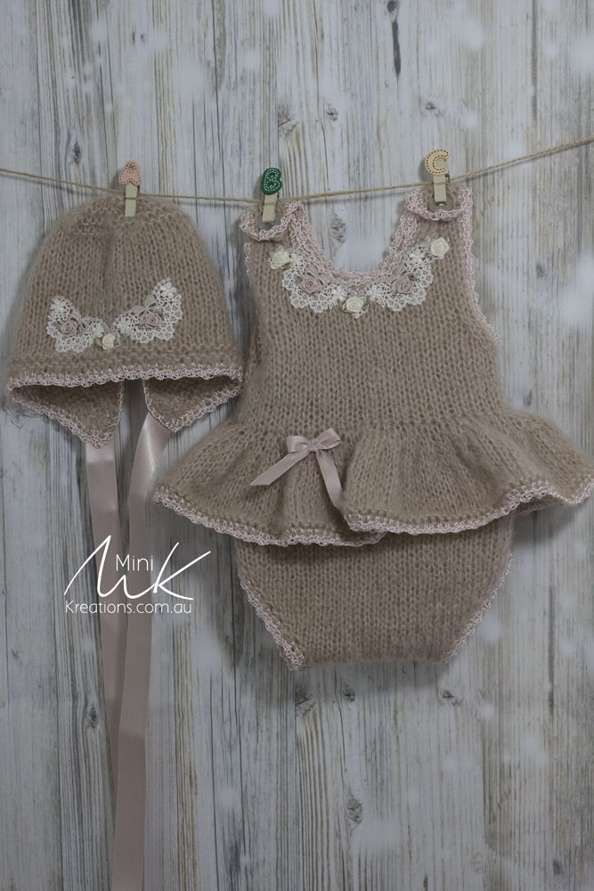 Mohair French Vanilla Tutu to fit 18-20 inch Reborn/silicone doll or newborn Baby