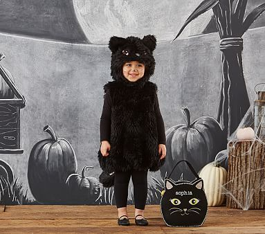 Black Cat Halloween Costume, 12-24 Months