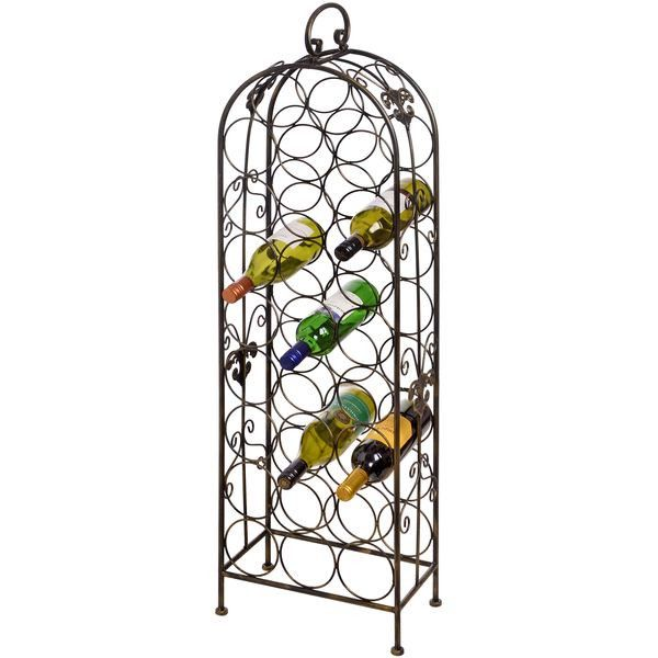 26 bottle metal wine rack from serendipity home interiors - Metal Wine Rack
