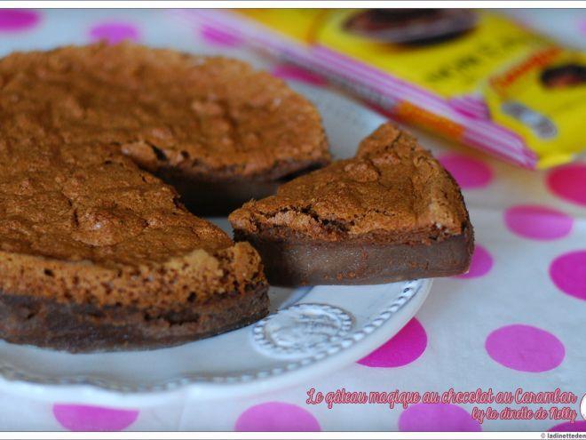 Recette Dessert : Gâteau magique au chocolat au carambar par LaDinetteDeNelly