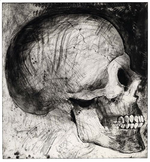 Jim Dine 'The Side View' 1996 etching