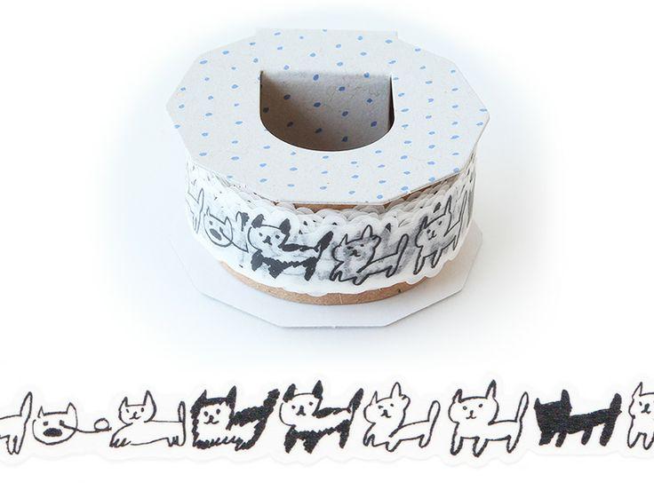 マスキングテープ カタヌキ (MTK-01) : neko border|いろは出版公式通販サイト TONARY(トナリー)