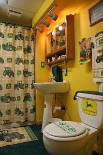 John Deere Bathroom: Bathroom Design, Boys Bathroom, Kids Bathroom, John Deere, Dreams House, Basements Bathroom, Bathroom Interiors Design, Johndeer, John Deer Bathroom Ideas