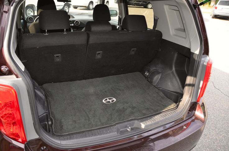 Trunk view of the 2009 Toyota Scion XB For Sale