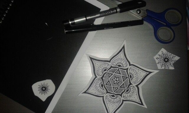 Mandalas and little stars to discard, realising that sometimes it's okay to let go of those little things you don't need. - J. Constantine