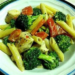 Roasted Garlic Chicken Penne Recipe. Pretty garlicky (is that a word?) just the way I like it!