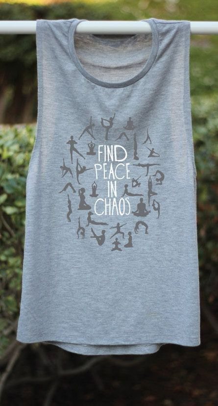 Find Peace In Chaos - Yoga Tank