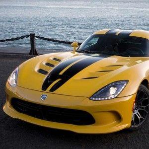 2013 SRT Viper Yellow Black Front