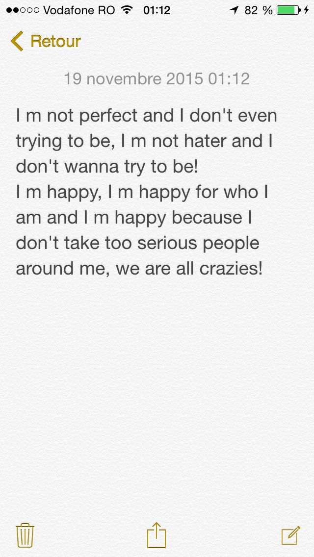 I m not #perfect #hater  I am #happy