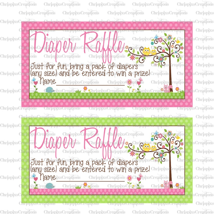 Owl Happi Tree Baby Shower Diaper Raffle Tickets- Print At Home. $5.00, via Etsy.