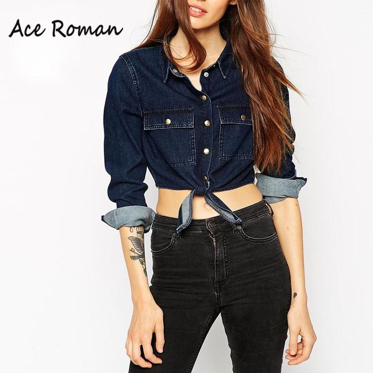 Find More Blouses & Shirts Information about 2016 Autumn Women Jean Shirts…