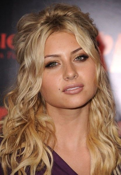 aly michalka - curly hair