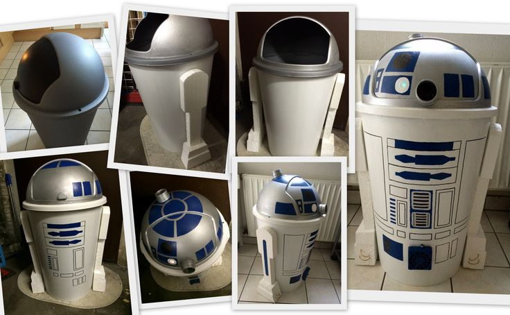 Es war einmal ein kleiner Mülleimer, der guckte Star Wars für sein Leben gern. Und wollte daraufhin R2D2 werden. Schwupps kam eine, sagen wir mal gute Fee… …und… …erfüllte&#…