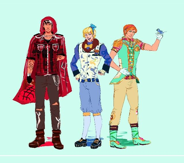 Genderben Blondie, Ashlynn & Cerise full body