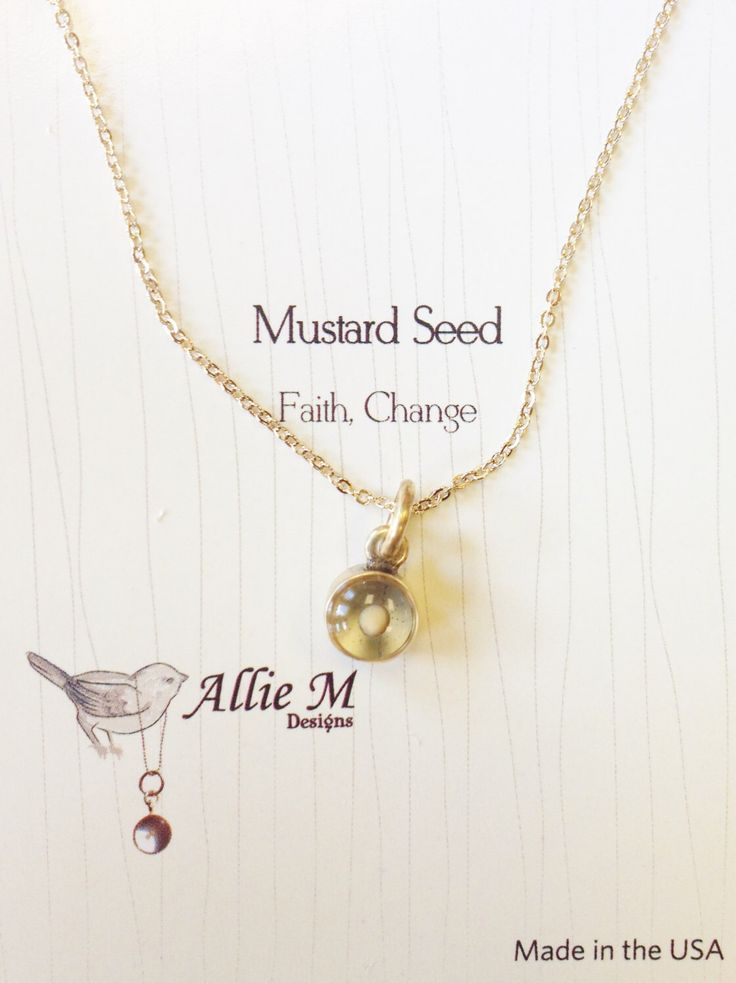 Gold Faith Mustard Seed Necklace - Faith Charm, Small round Resin Charm, Simple Everyday Necklace by AllieMJewelry on Etsy https://www.etsy.com/listing/188190895/gold-faith-mustard-seed-necklace-faith